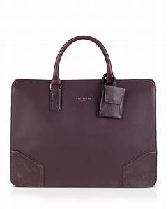 ted baker slimtom leather document bag in red lyst With ladies leather document bag