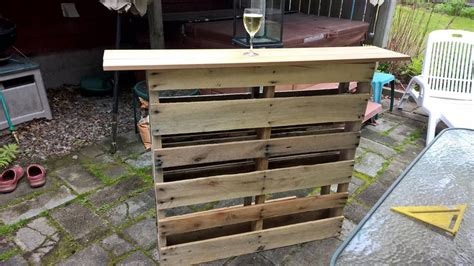 custom pallet bar for outdoor patio pallet furniture