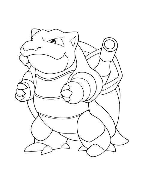 Pokemon Coloring Pages Blastoise Wwwpixsharkcom