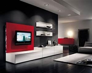 Meuble Tv Au Mur : 24 best mur tv images on pinterest mur tv meuble tv et salons ~ Teatrodelosmanantiales.com Idées de Décoration