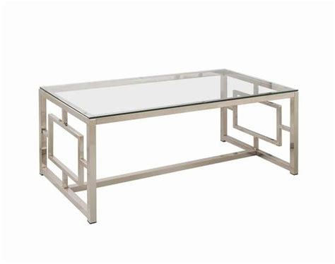 Silver Metal Coffee Table  Stealasofa Furniture Outlet