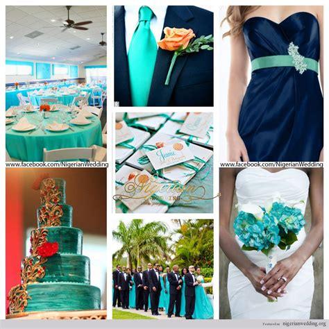 navy blue wedding color schemes wedding cyan aqua blue and navy blue wedding