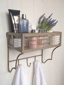 details about shabby chic vintage metal wall shelf unit With wall hook rack moms solution for the house