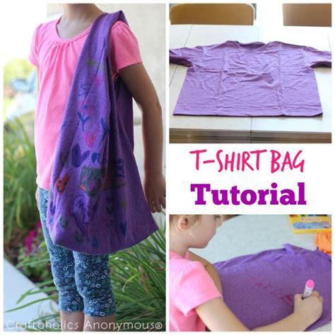 craftaholics anonymous easy  shirt bag tutorial