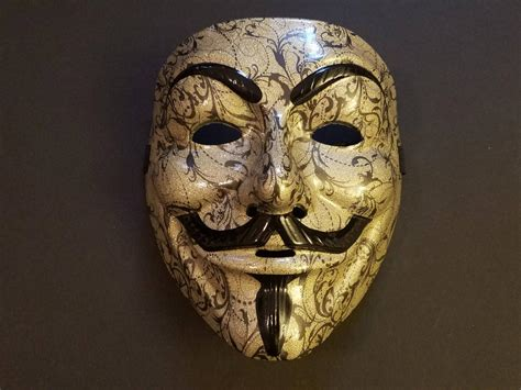 custom anonymous mask gold picture  wallpaper hd