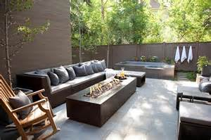 outdoor sectional with pit contemporary deck patio