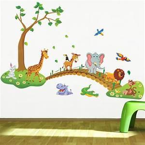 Aliexpress buy cartoon jungle wild animal wall