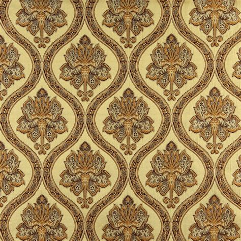 Brocade Upholstery Fabric - gold brown and ivory traditional brocade upholstery