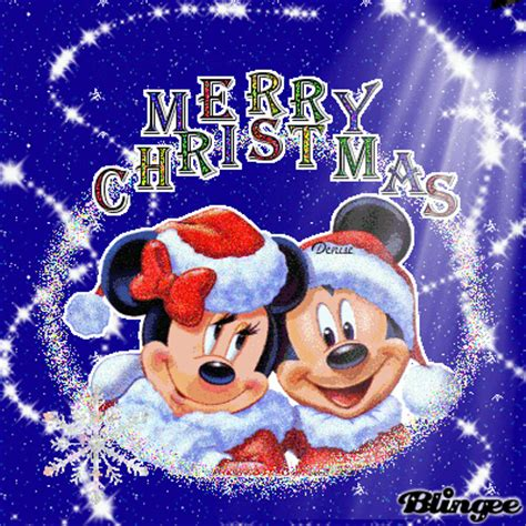 merry christmas minnie and mickey mouse picture