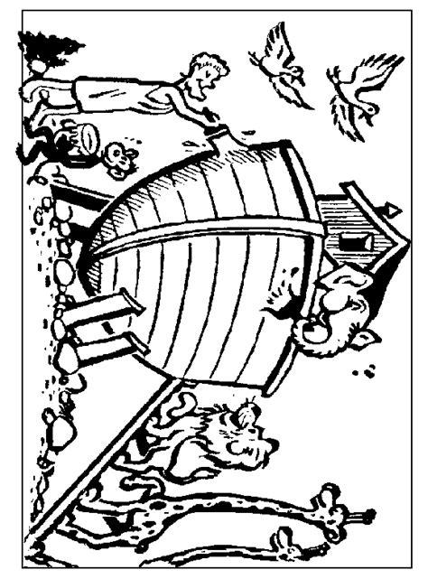 Kleurplaat Regenboog Ark Noach by Www Christiancomputergames Net Noach Ark Schilderen
