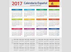 Ilustração de Espanhol Calendário 2017calendario Espanhol