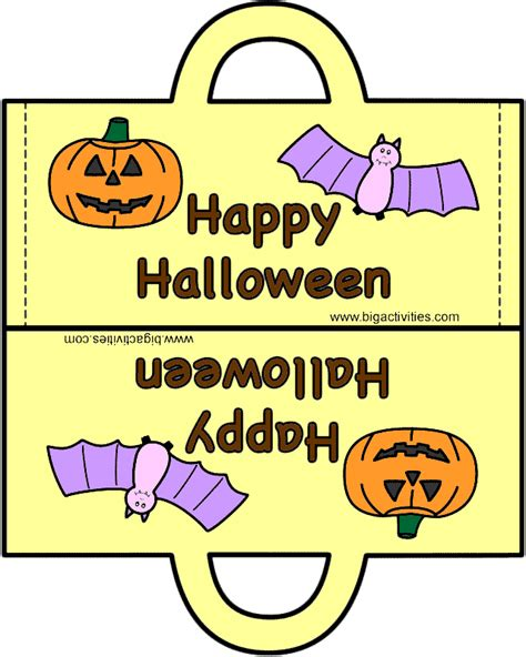 halloween bag paper craft color template