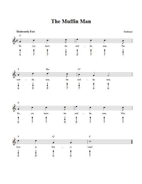 Man with a harmonica is a song from the movie once upon a time in the west. The Muffin Man: Chords, Sheet Music, and Tab for Harmonica with Lyrics