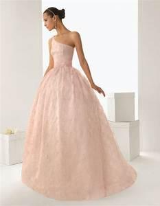 rosa clara39s blush wedding dresses revealed arabia weddings With blush wedding dress