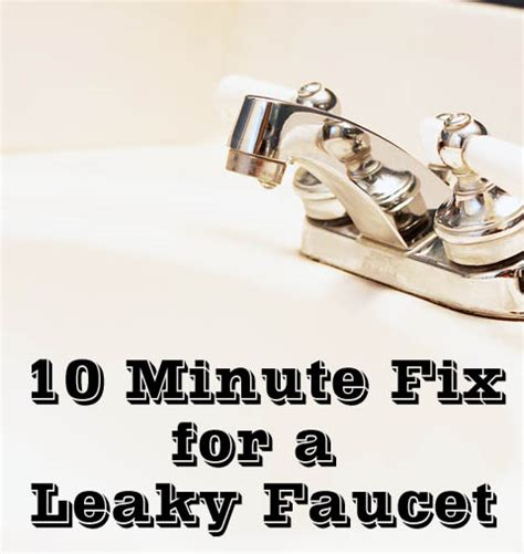 how do i fix a leaky kitchen faucet fix a leaky faucet in 10 minutes