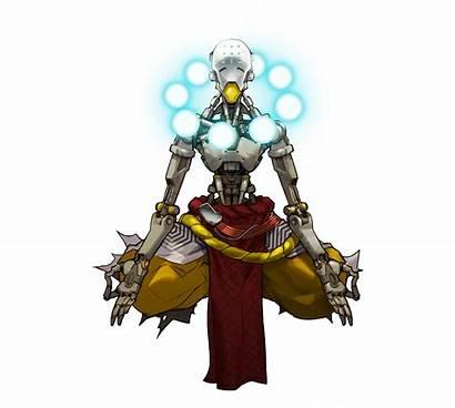 Zenyatta Overwatch Character Characters Artwork Presskit