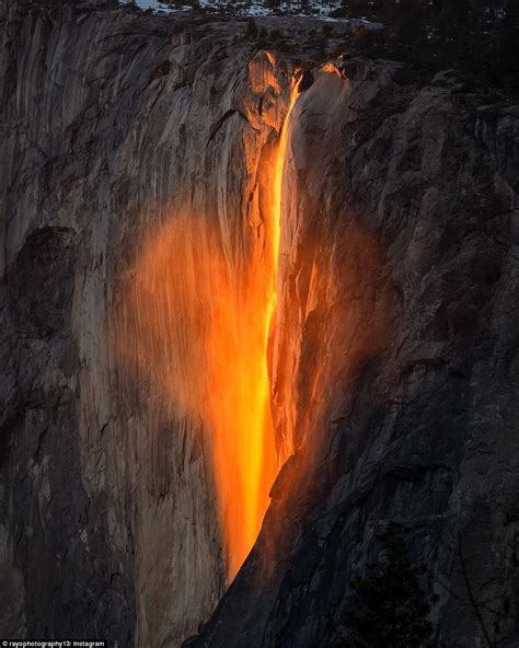 Tail Falls Yosemite National Park Firefall