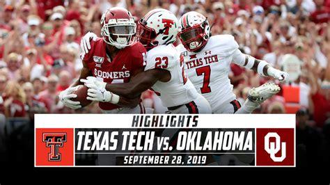 texas tech    oklahoma football highlights