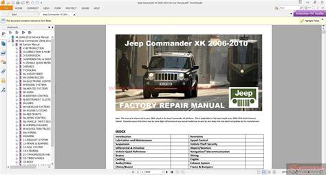 auto manual repair 2006 jeep commander auto manual jeep commander xk 2006 2010 service manual auto repair manual forum heavy equipment forums
