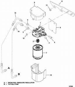 Fuel Filter For Mercruiser  5 0l Efi Alpha    Bravo 5 7l