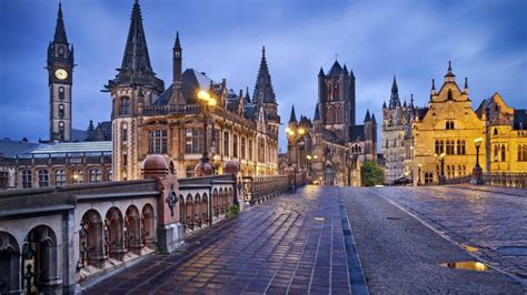 Ghent Belgium City' Gothic Style Of Architecture Desktop