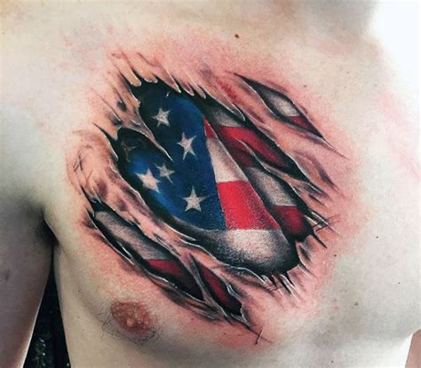 american flag tattoos  men improb