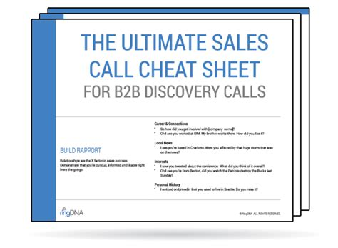 the ultimate b2b sales discovery call checklist