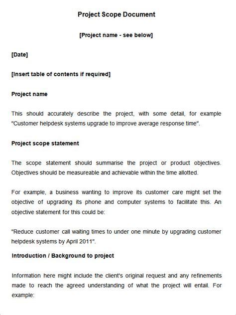 scope document scope of work template 36 free word pdf documents free premium templates