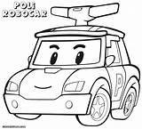 Poli Robocar Coloring Pages Drawing Police Cartoon Robocarpoli Colorings Getdrawings sketch template