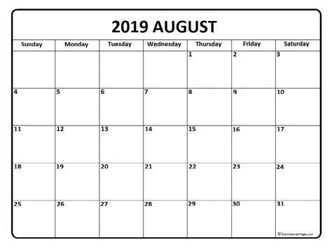 august calendar templates printable calendars