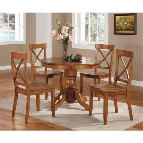 home styles  piece oak dining set    home depot