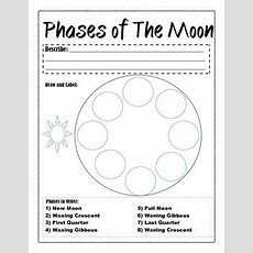 Phases Of The Moon Worksheet By Bethany King  Teachers Pay Teachers