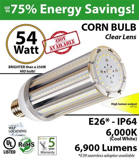 54w led corn light bulbs 300 watt hps replacement go