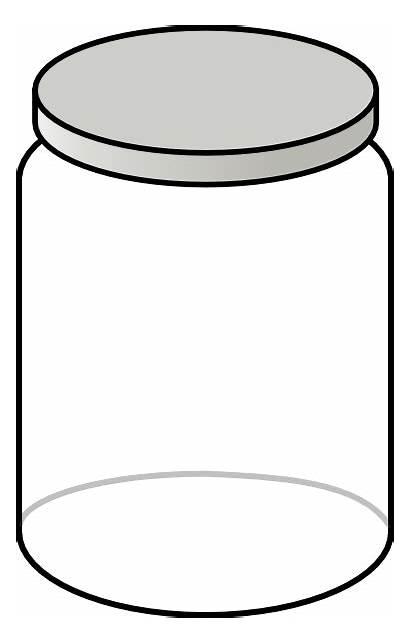Jar Empty Clip Clipart Mason Clear Cookie