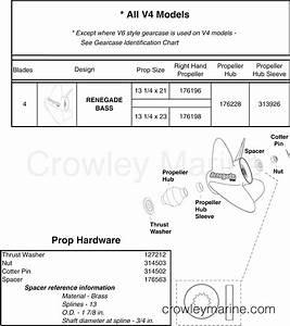Stainless Steel 4 Blade Propellers  U0026 Hardware  V4 Style Gearcase  2 Stroke