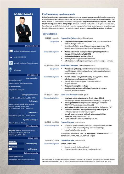 Cv For by Profesjonalne Wzory Cv Praktyczne Wskaz 243 Wki Experci