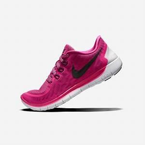 Nike Girls Free 5 0 Running Shoes Pink Pow Vivid Pink