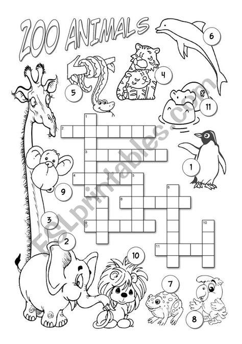 zoo animals esl worksheet  alenka