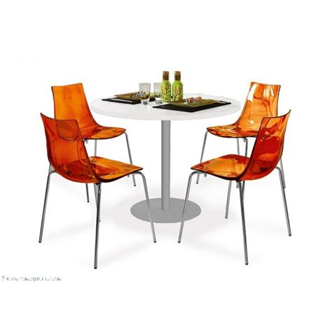 chaises orange exemple chaise de cuisine orange