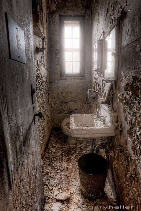 abandoned ladies room  toilet bathroom  asylum