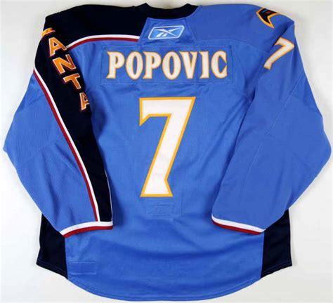 mark popovic atlanta thrashers game worn jersey