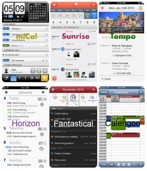 best schedule app for iphone top calendar apps for iphone iphone calendars