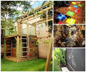 Jeux Exterieur Bois Enfant : aire de jeux jardin id es cr atives pour les enfants ~ Premium-room.com Idées de Décoration