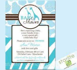 Wild Safari Baby Shower by Wild Safari Blue Baby Shower Invitations Style 2 By Starwedd