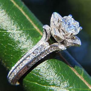 gorgeous unique flower rose diamond engagement ring 250 With diamond flower wedding ring