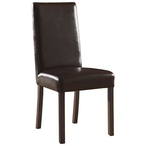 monaco upholstered dining chair brown leather dcg