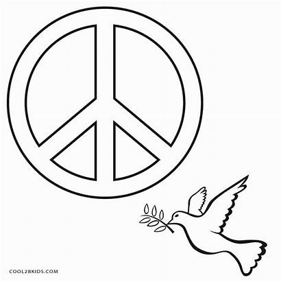 Peace Coloring Sign Pages Cool2bkids Printable