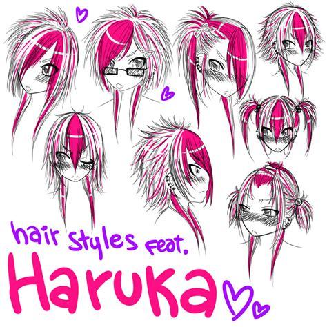 cool anime hairstyles  demonicfreddy  deviantart