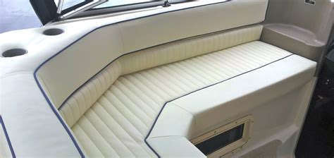 Pontoon Upholstery Repair by Boat Upholstery