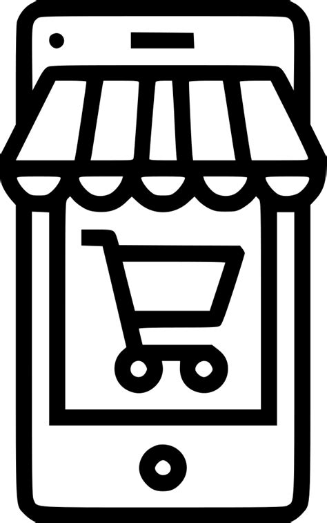 shop store ecommerce cart mobile svg png icon